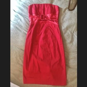 Twenty One strapless red dress Small